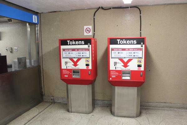 トロント地下鉄で必要なトークン売り場