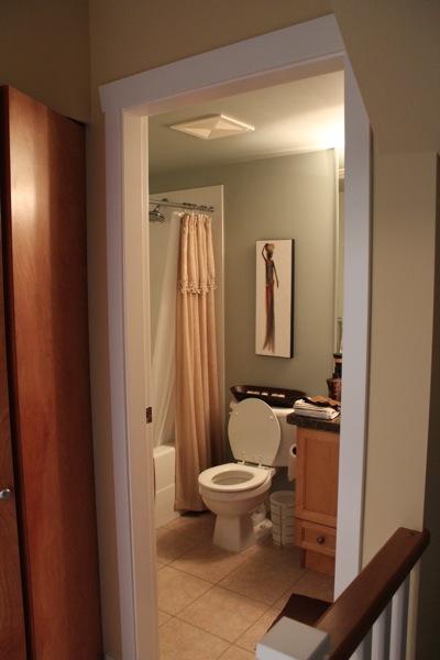 バンクーバー・バーナビーでのホームステイ宅シャワールーム