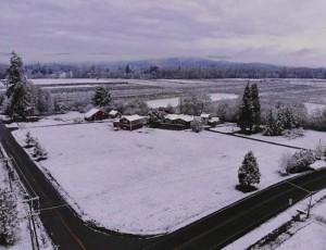 Snow Day 上空写真㈰