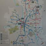 バスのルートマップ